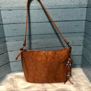 The Sak Leather embossed Shoulder Bag